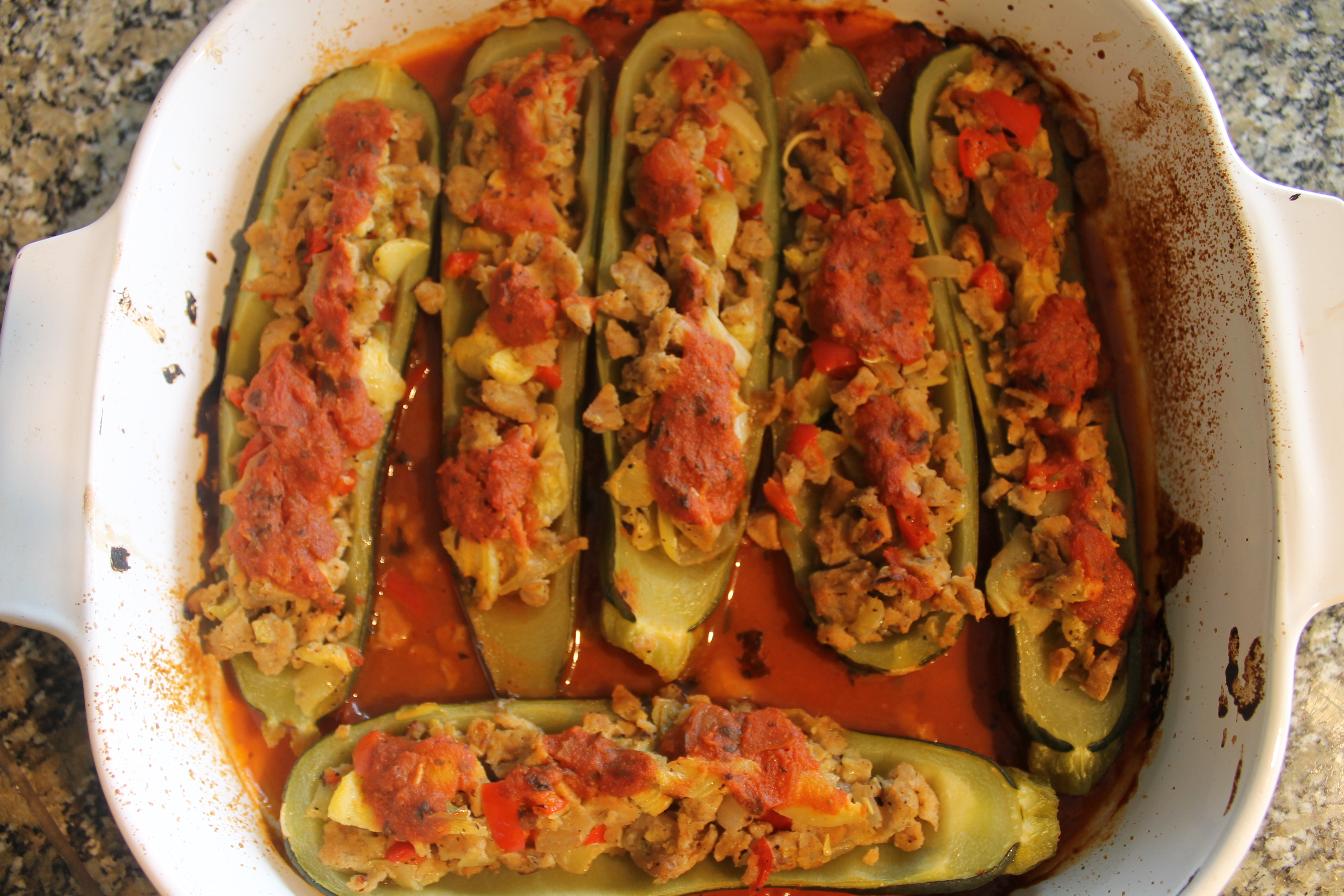 Recipe: Sausage-Stuffed Zucchini Boats | Recreation and Whimsy