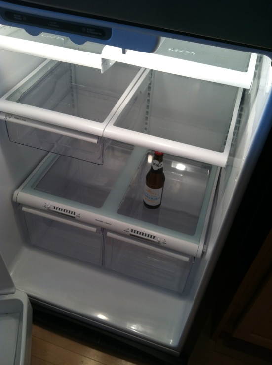 My fridge, at the end of the week.