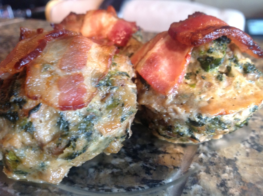 Spinach-Pork Meatloaf Muffins